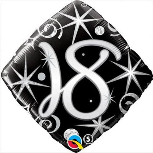 Qualatex Balloons 18-90 Elegant Sparkles and Swirls 45cm