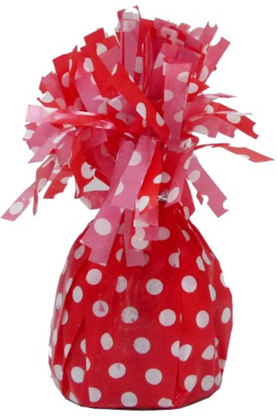 DOTS RUBY RED BALLOON WEIGHT