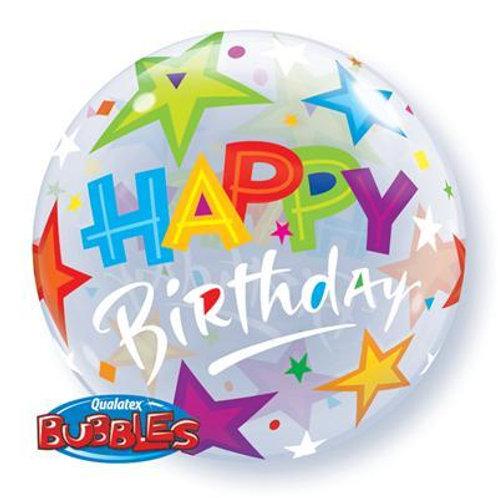 Birthday Brilliant Stars Bubble 55cm