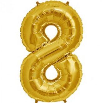 Megaloon Number 8 Jumbo 34″ (GOLD,SLIVER,BLUE,HOTPINK,ROSEGOLD)