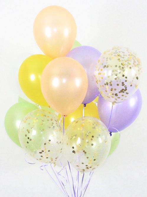 Bouquet(20Balloons)Pastel & Ice Cream Confetti Balloon Helium filled