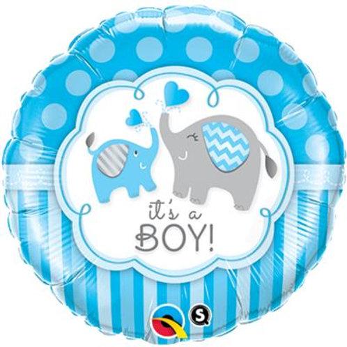Qualatex Balloons Its A Boy Elephant 45cm