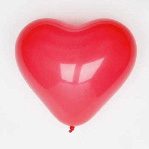 """Heart Shaped Latex Balloons 15"""""""