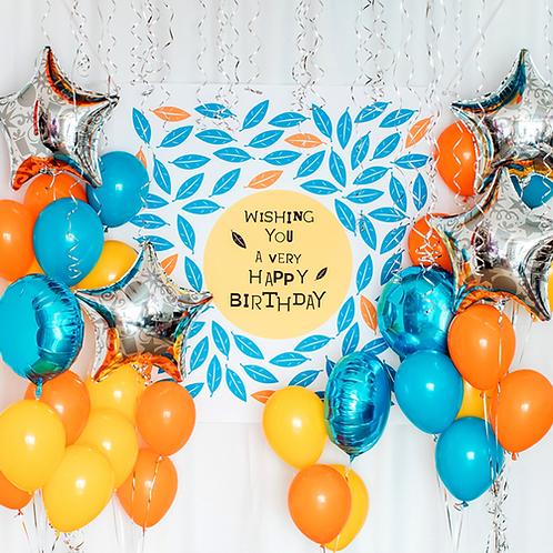 Vibrant Orange Balloon Set