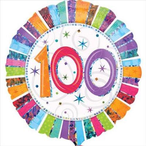 Radiant Birthday 100 45cm Foil 45cm