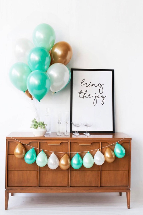 Teal Balloon Bouquet of 10