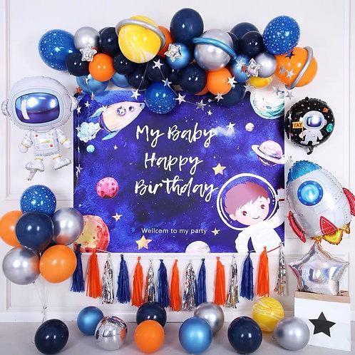 Astronaut Balloon Party Set