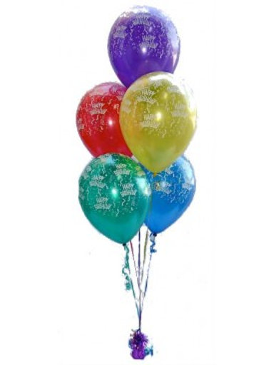 Bouquet of 5 balloons -Printed Balloons(Helium Filled)