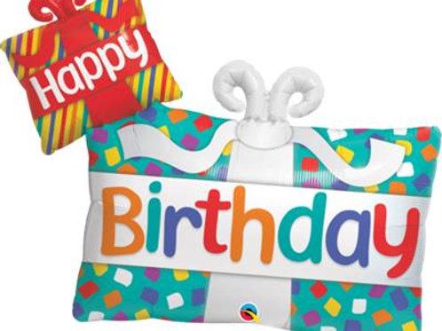 Balloon Foil Happy Birthday Presents 99cm