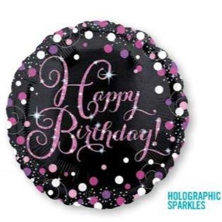 Pink Celebration Birthday Holgoraphic Sparkles 45cm