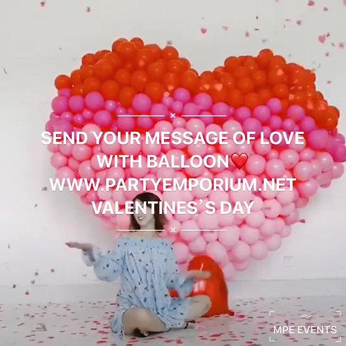 Giant balloon heart