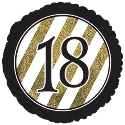 18-90 Black and Gold Stripe 45cm Foil
