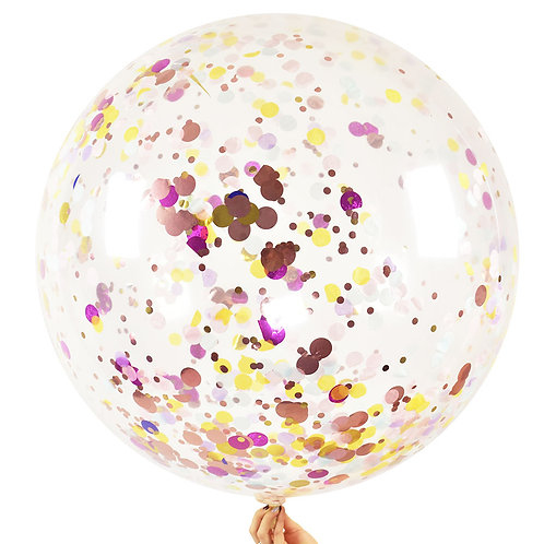 Jumbo Confetti Balloon Pastels color Mix
