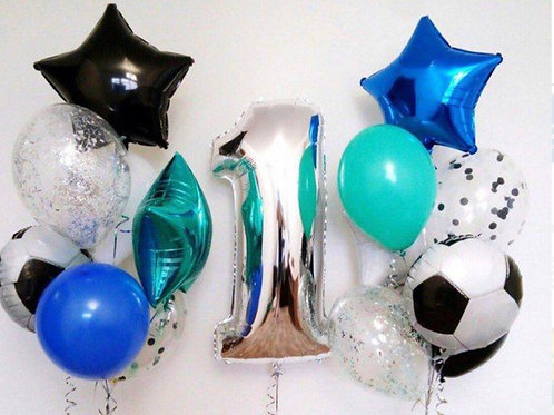 First birthday balloon set