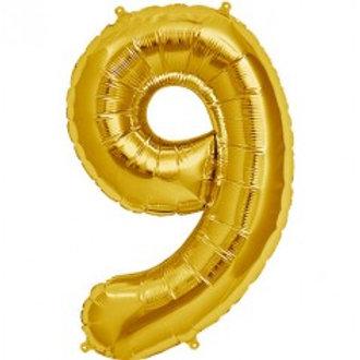 Megaloon Number 9 Jumbo 34″(GOLD,BLUE,SLIVER,HOTPINK,ROSEGOLD)