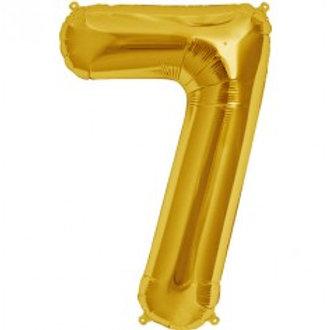 Megaloon Number 7 Jumbo 34″ (GOLD,SLIVER,BLUE,HOTPINK,ROSEGOLD)