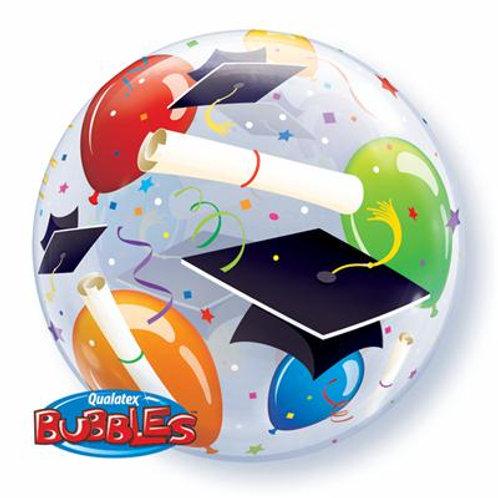 Grad Hats & Balloons Bubble 55cm