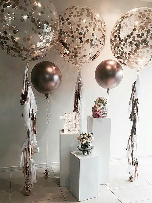 Rose Gold Megalloon Party Decoration Package