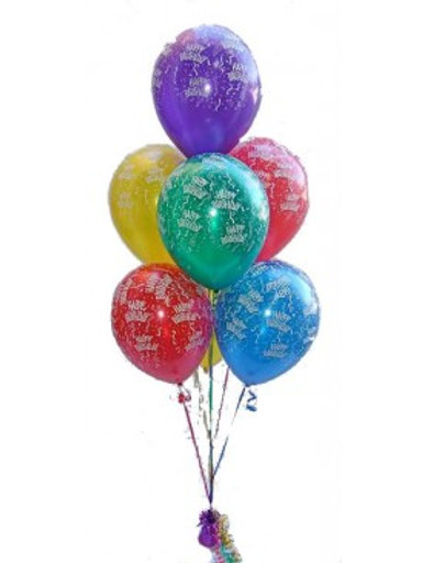 Bouquet of 7balloons -Printed Balloons (Helium Filled)