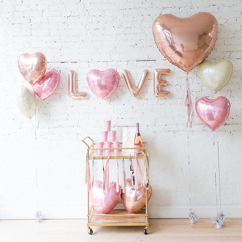 Love Message Balloon Deco
