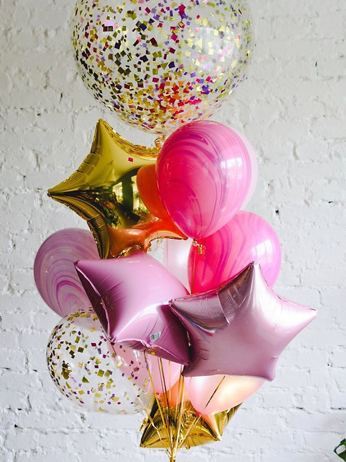 Gold&Pink Bouquet of 12