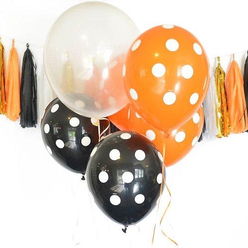 Halloween balloon bouquet of 5