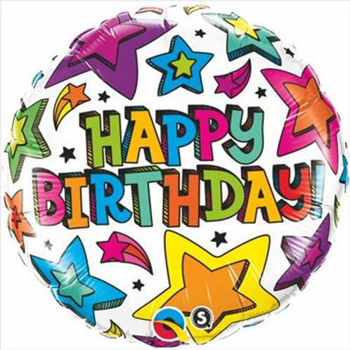 Qualatex Balloons Birthday Multiple Stars 45cm