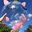 "Thumbnail: 18"" Unicorn clear wrinkle-free bubble balloon helium filled"