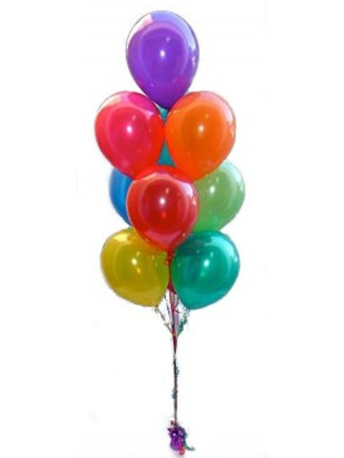 Bouquet of 10 balloons -Plain color (Helium Filled)