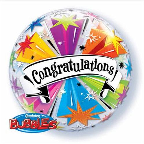 Congratulations Banner Blast Bubble 55cm