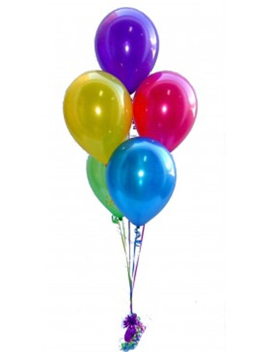 Bouquet of 5 balloons -Plain color with helium(Helium Filled)