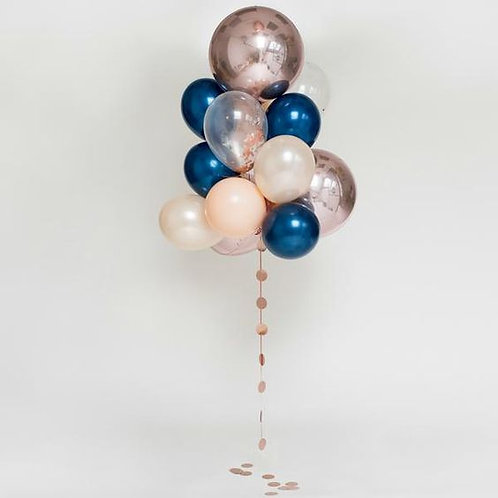 Midnight Blushes-Giant Balloon Bouquet