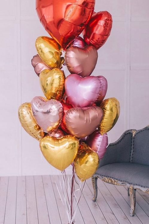Mexi Love Heart Foil balloon bouquet