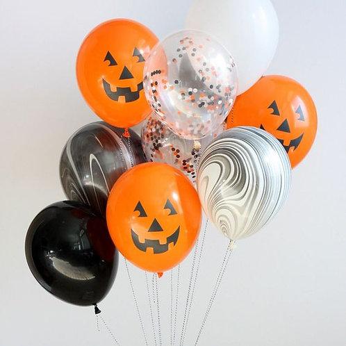 Halloween balloon bouquet of 10