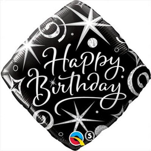 Qualatex Balloons Birthday Elegant Sparkles and Swirls 45cm