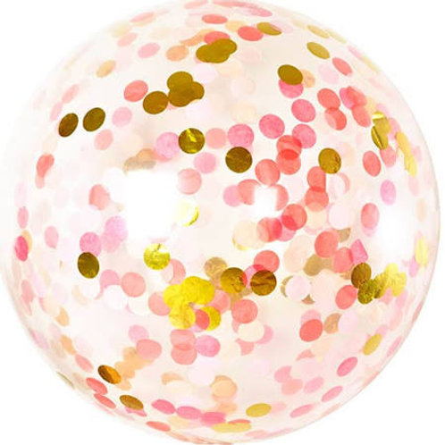 Giant 90cm 3ft Confetti Balloon - pink shimmer