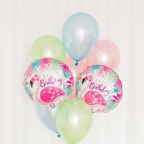 Flamingo Balloon Bouquet of 8