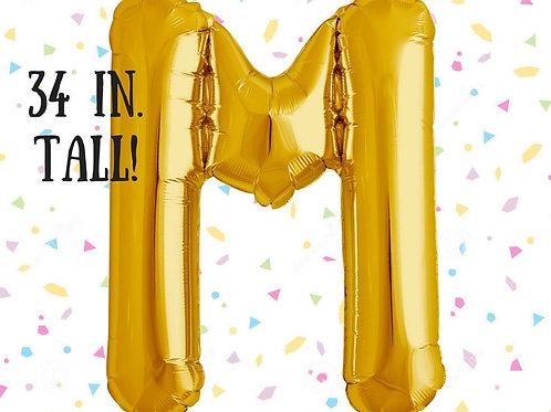 Megaloon Letter M Jumbo 34″(GOLD/SLIVER)