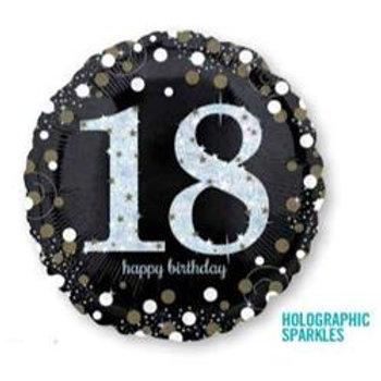 Sparkling Birthday18 - 100 Holographic Sparkles 45cm