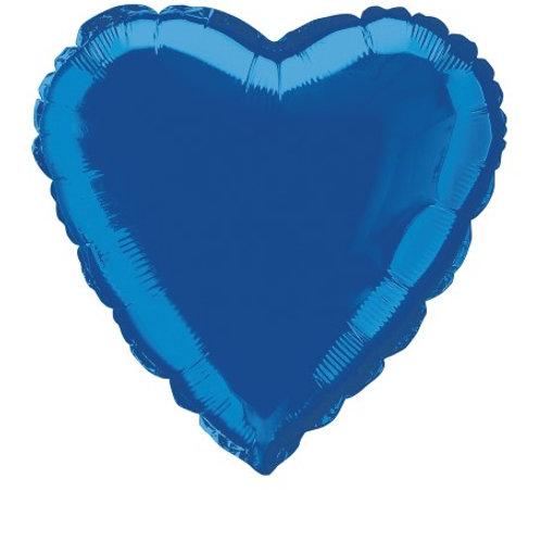 "ROYAL BLUE HEART 45cm (18"") FOIL BALLOON"