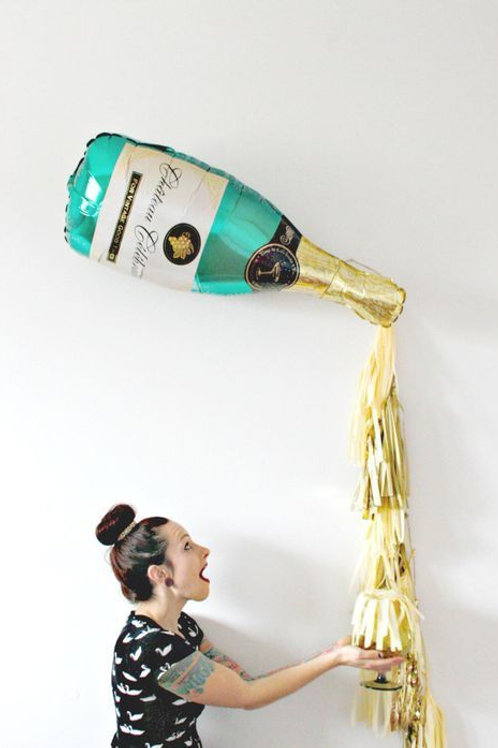 Champagne Bottle Balloon with tassel(Airfilled)