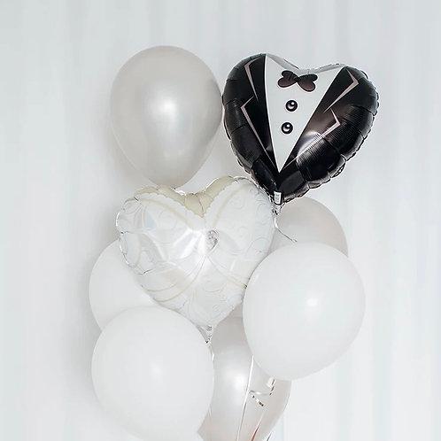 Wedding Balloon Bouquet of 8