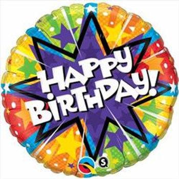 Qualatex Balloons Birthday radiant Blast 45cm
