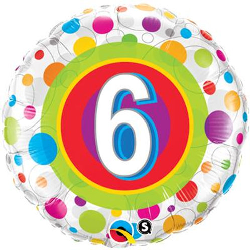 Qualatex Balloons Age 6-13 Colourful Dots 45cm