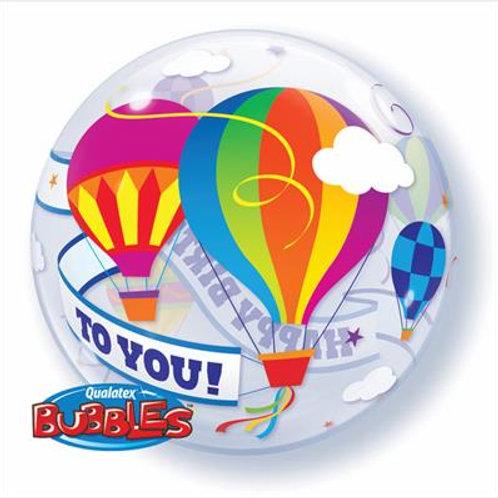 Birthday Hot Air Balloon Bubble 55cm