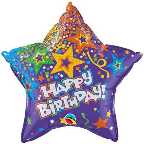Birthday Star Purple 50cm
