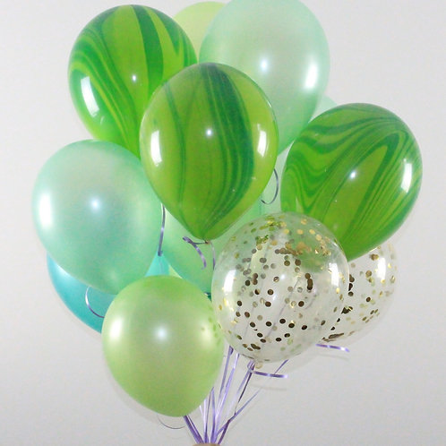 Bouquet(20Balloons)Tinker bell Gold Or Silver Confetti Balloon Helium filled