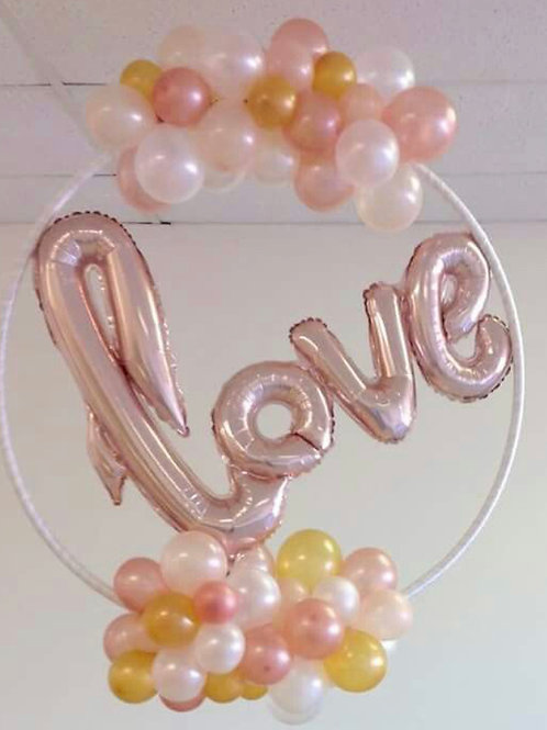 Love ring balloon decoration