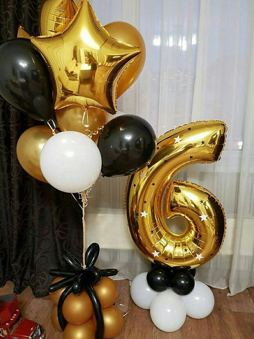 Birthday Number Balloon Set