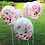 Thumbnail: 6 Balloons Bouquet Romantic Wedding Confetti Balloons Pink Gold